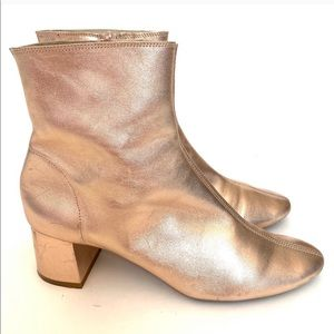 TOPSHOP rose gold ankle Chelsea boot 8.5